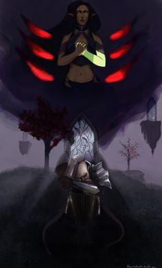"""Var lath vir suledin"" By: Espamistwalker on tumblr and Deviantart #solas #solavellan #bioware #dragonageinquisition"