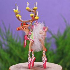 Dash Away Mini Reindeer Ornaments, Set of 8