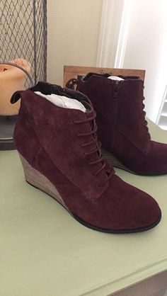 16b24bc13823 DIBA Skye Lace Up Wedge Bootie from Stitch Fix. https   www.