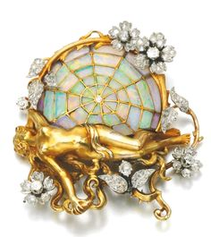 GEM SET AND DIAMOND BROOCH/ PENDANT, HENRIE-AUGUSTE SOLIÉ, CIRCA 1900