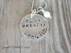 Hand Stamped Necklace with Bible verse in Aluminum  by Jlwhiddon, $18.00