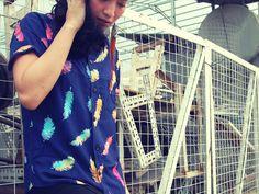 Handmade Psychedelic Batik print Shirt by: JohnnyZebra.