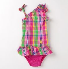 This is one of my favorites on totsy.com: Newborn Girls' Plaid One Shoulder Dress with Pi...