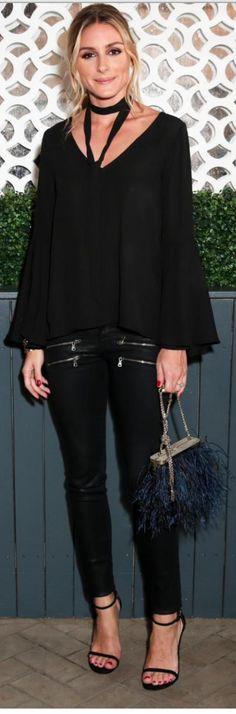 Olivia Palermo: Purse – Barbara Bonner  Shirt – Jay Godfrey  Pants – Paige  Shoes – Stuart Weitzman