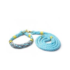 Beautiful handmade rope dog leash and collar set by Lasso.