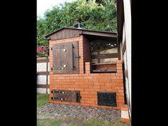 Wędzarnia Pawła - YouTube Bbq Grill, Grilling, Backyard Smokers, Smokehouse, Deck Design, House Projects, Brick, Home Improvement, Shed