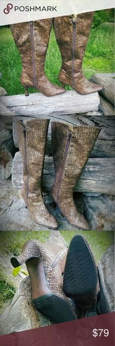 J.Renee knee boots New without tag, never worn J.Renee knee boots snake skin pattern. J Renee Shoes Over the Knee Boots