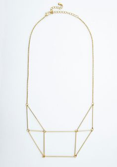 Prism She Lovely Necklace. Layer this geometric necklace over your favorite top for a touch of added charm! #gold #modcloth
