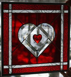 *Heart's+Delight*+Stained+Glass+Panel,Handmade,Original+design,+signed+and+dated