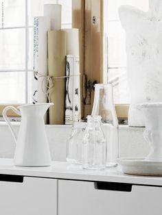 Livet Hemma – IKEA #glass #pitcher #ceramic