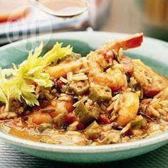 Photo recette : Soupe cajun aux crevettes, poulet et gombos
