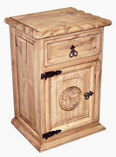 Superb 1 Drawer 1 Door Night Stand W/Rope Star   Great Western Furniture Company