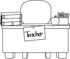Teacher Clip Art Borders | Teacher's Desk Clip Art Image ...