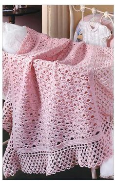 Pink or Blue you decide the color of your crochet baby blanket with The Little Encyclopedia of Baby Blankets