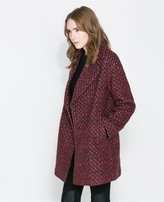 OVERSIZE DOUBLE BREASTED COAT from Zara