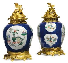 Attributed to Maison Edmé Samson et Fils<br>FL. 19th century<br>A pair of Louis XV style gilt-bronze mounted Chinesestyle ceramic urns<br>France, late 19th century | Lot | Sotheby's