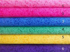 Stoff Patchwork Baumwollstoff Punkte Ringe pink blau gelb rosa rot orange 30cm
