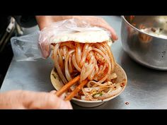Chinese Street Food Cold Noodle Sandwich