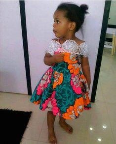 Check out this classic and beautiful ankara dress for your baby girl kids catelouge Ankara Styles For Kids, African Dresses For Kids, African Print Dresses, African Print Fashion, Dress For Girl Child, Kids Dress Wear, Girls Formal Dresses, Dresses Kids Girl, Afro