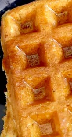 Corn Waffles - delicious when served with fried chicken Waffle Maker Recipes, Pancake Recipes, Brunch Recipes, Dessert Recipes, Brunch Ideas, Breakfast Ideas, Desserts, Breakfast Waffles, Breakfast