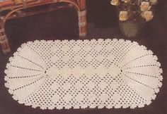 Crochet Doily with Fan Ends Pattern Diagram. More Patterns Like This!