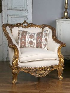 SOLD Rococco Style Bergeres in Gold -