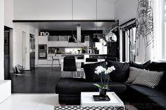 Black and white interior