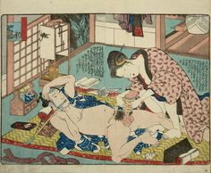 CLICK the IMAGE for an interesting article on shunga art by the important artist Kuniyoshi.