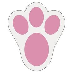 Free printable easter bunny paw prints template back for Bunny feet template printable