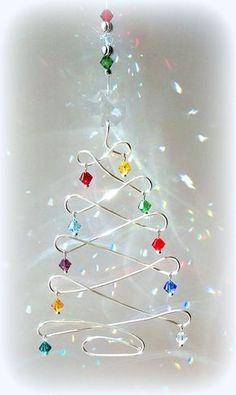 Sun Catcher Christmas Tree Fun by DancingRainbows, $18.00 USD