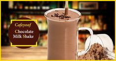 Chocolate Milk Shake at nearest Cafe Yoof Store Chocolate Milkshake, Flavored Milk, Store, Tableware, Dinnerware, Larger, Tablewares, Dishes, Place Settings