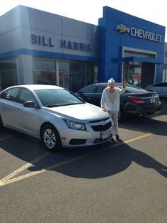Check out Jackie Davidson with her new 2014 #Chevrolet #Cruze! Congratulations, Jackie! You look great with your new car!