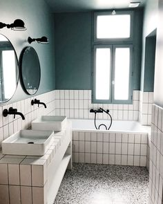 Chartres project – renovation / decoration – Kids bathroom – graphic style – Terrazzo floor – realized by CAROLINE ANDREONI Agency Source by caroandreoni White Bathroom, Modern Bathroom, Small Bathroom, Master Bathroom, Bathroom Ideas, Bath Ideas, Bathroom Renovations, Bathroom Inspo, Bathroom Inspiration
