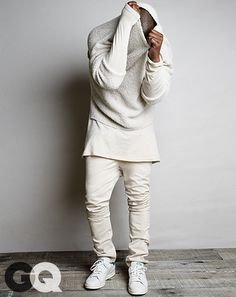 """Kanye's Take: """"If you're wearing layers, you can be in L.A., New York, Paris, in an airport lounge, or on a plane, taking layers on and off however. And the proportions get emotional. You know how a graphic can express a feeling or an emotion? Layers can, too."""""""