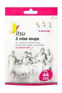 <center><b>Itsu Miso Soup Original:</b> 44 calories