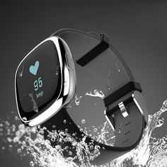 Waterproof Bluetooth Smart Watch with Blood Pressure /Heart Rate / Sleep Monitor Sports Fitness tracker Watch smart band Pedometer for IOS Android Smartphone( Black-Silver) Health Bracelet, Fitness Bracelet, Sport Watches, Watches For Men, Women's Watches, Fitness Tracker Band, Blood Pressure Watch, Bluetooth, Ios