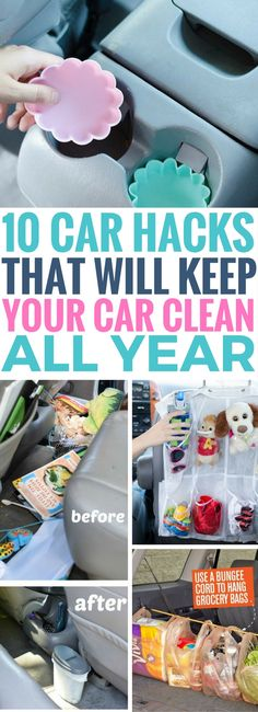 These Car Organization Hacks are the BEST thing I've read so far. Fantastic tips to make sure your car stays organized, especially if you have kids. Definitely sharing this along!