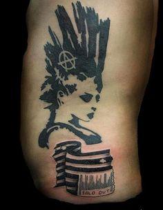 Resultado de imagem para a punk tattoo