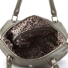 Christian Audigier Penelope Satchel Bag - Khaki List Price: $248.00 Buy Now: $49.00