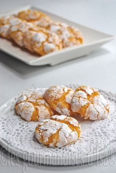 Cracked Lemon and Coconut Cookies.  Translated from French