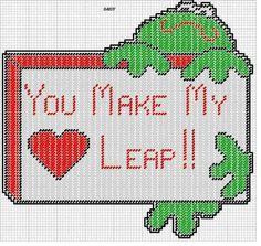 FROG * YOU MAKE MY HEART LEAP by DAISY -- WALL HANGING