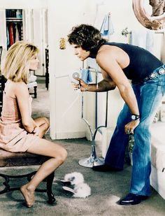 "hollywoodlady: "" Julie Christie and Warren Beatty in Shampoo, 1975 """