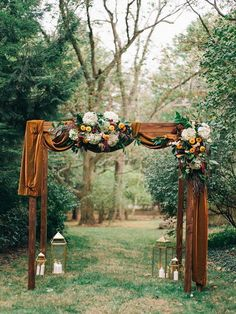 outdoor fall wedding ceremony arch ideas wedding ceremony 20 Amazing Outdoor Fall Wedding Arches for 2019 Trends - Oh Best Day Ever Wedding Aisles, Fall Wedding Arches, Wedding Arch Rustic, Wedding Ceremony Arch, Wedding Entrance, Wedding Aisle Decorations, Wedding Scene, Fall Wedding Colors, Autumn Wedding
