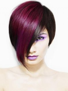 xaxii two toned hair red black blonde blue highlights lowlights how to be fashionable hairstyle look rebelious