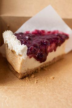(Eugene, Oregon) Sweet Life Patisserie: #Vegan Blueberry Cheesecake