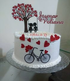 Birthday Cake For Wife, Cartoon Birthday Cake, Happy Birthday Cakes, Cake Decorating Frosting, Cake Decorating Videos, Cake Decorating Techniques, Cake Icing, Buttercream Cake, Beautiful Cakes
