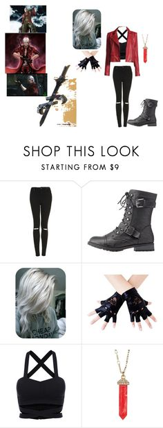 """fem!dante dmc devil may cry"" by unicornasaur ❤ liked on Polyvore featuring Topshop, Wild Diva, S.W.O.R.D., Karen Kane and IRO"