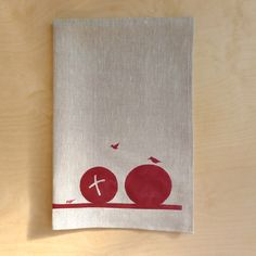 """Winter Fodder There"" Tea Cloth"