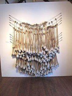 Jennifer Coyne Qudeen: January cement in nylon stockings Cement Art, Concrete Art, Concrete Projects, Concrete Forms, Concrete Sculpture, Soft Sculpture, Abstract Sculpture, Metal Sculptures, Creation Deco