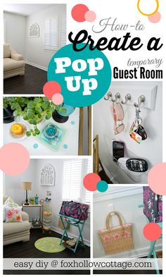DIY Guest Room | how-to create a temporary guest room ideas